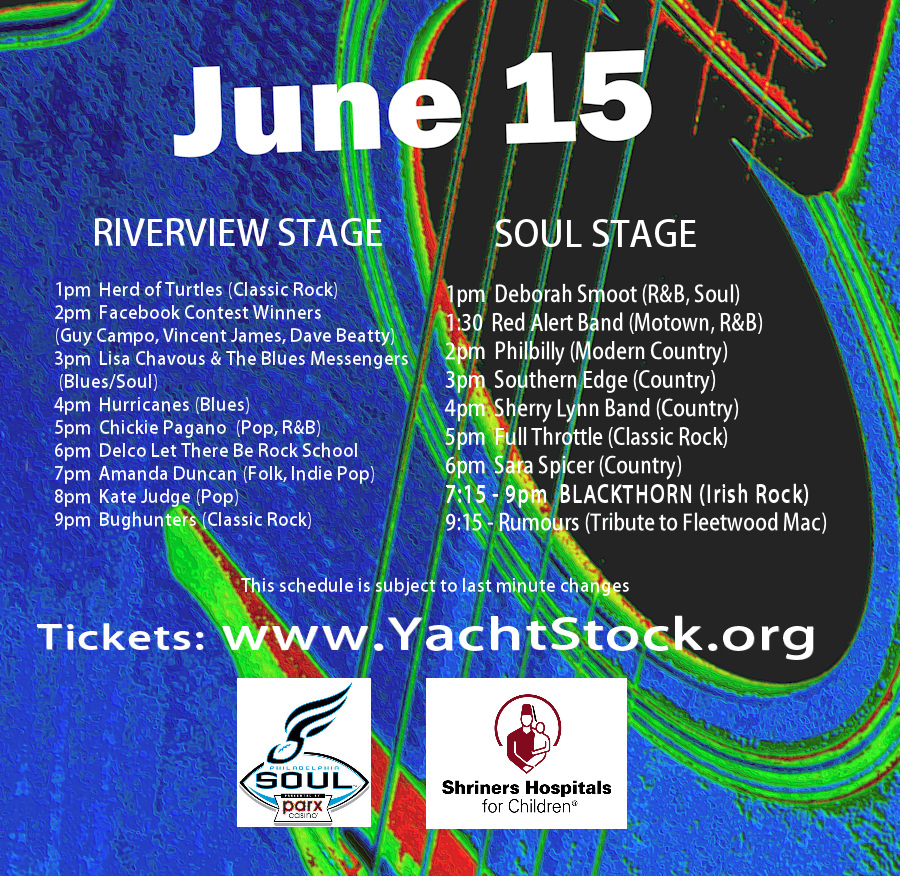 Yachtstock 2013 Stage Schedule