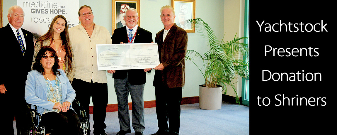 Yachtstock Shriners Donation 2013