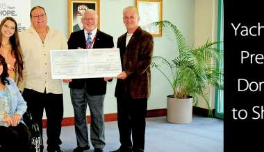 Yachtstock Presents Check to Shriners